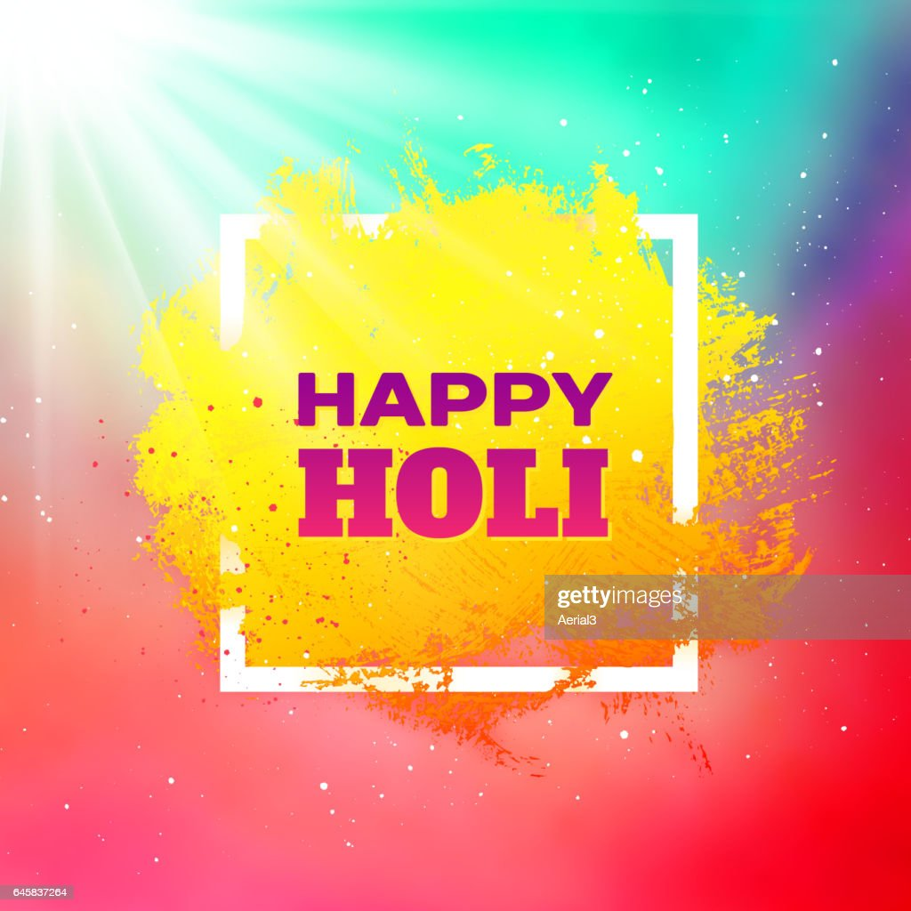 Holi festival colorful vector background