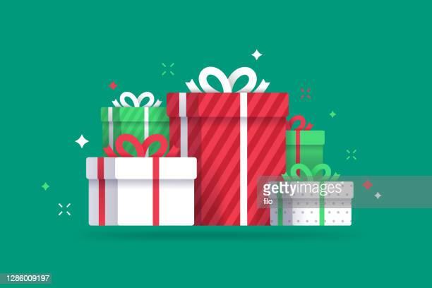 休日とクリスマスプレゼント - クリスマスマーケット点のイラスト素材/クリップアート素材/マンガ素材/アイコン素材