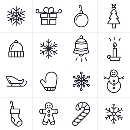 Holiday and Christmas Icons and Symbols - gettyimageskorea
