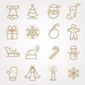 SET Holiday and Christmas Icons