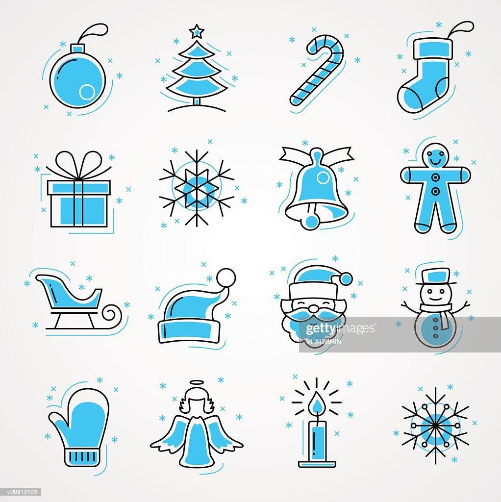 SET Holiday and Christmas Icons