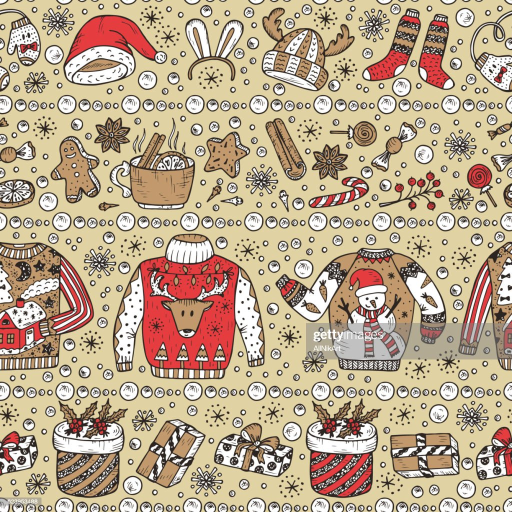 Christmas Sweater Background.Holiday Background Ugly Christmas Sweater Party Vector Xmas