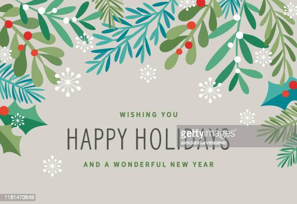 holiday background - mistletoe stock illustrations