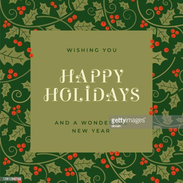 holiday background. - mistletoe stock illustrations