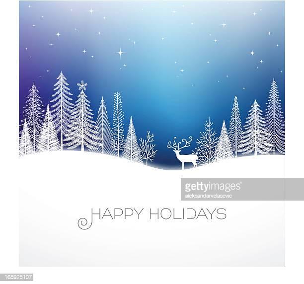 holiday background - aurora borealis stock illustrations