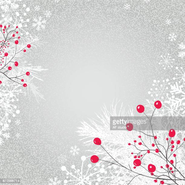 Holiday Background with Berry Fruit