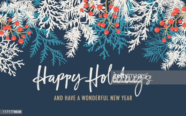 holiday background with greetings - winter stock illustrations