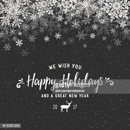 holiday background with layered snowflake border vector art getty images