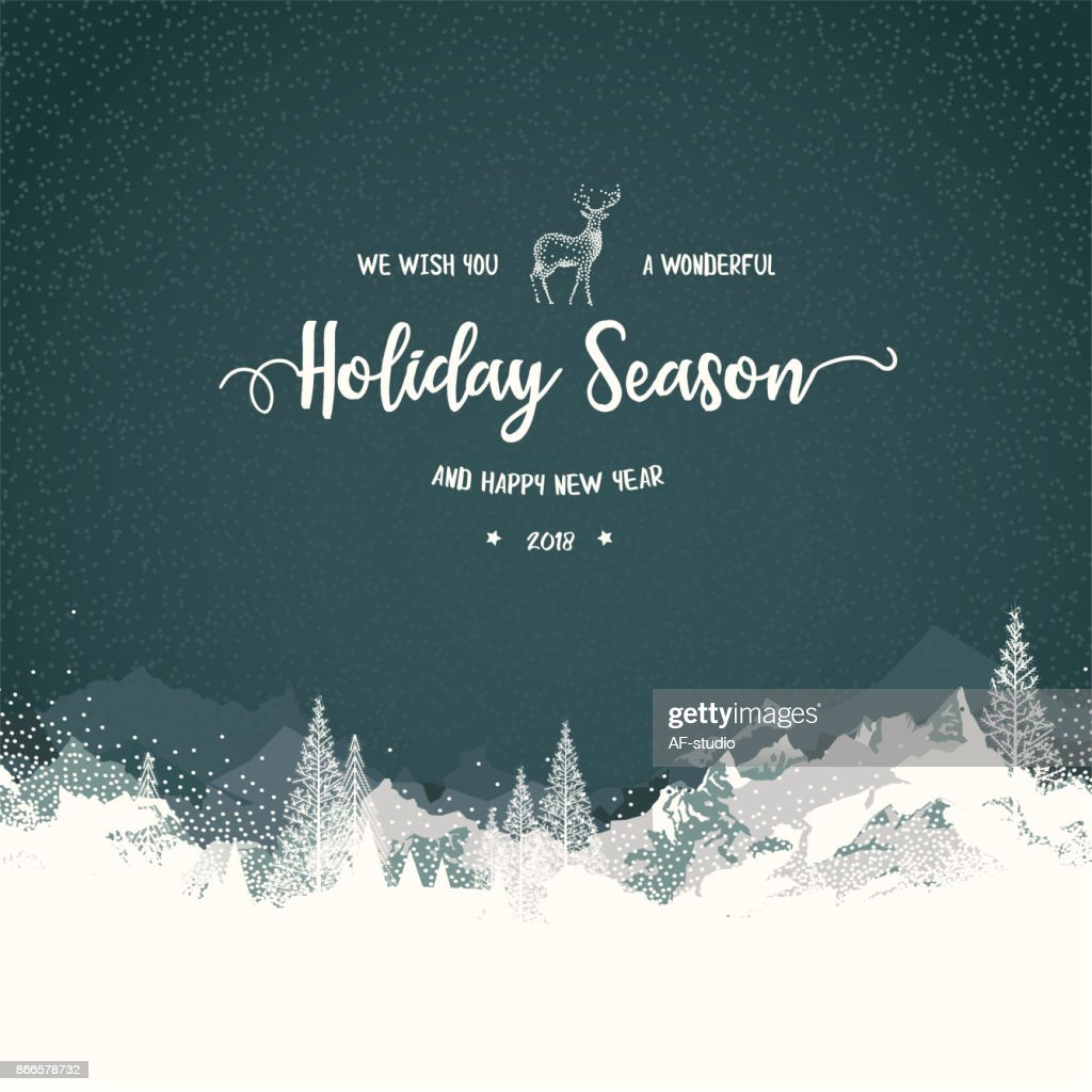 Holiday Background with Mountains