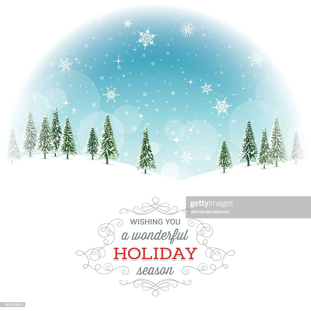 Holiday Background with Text