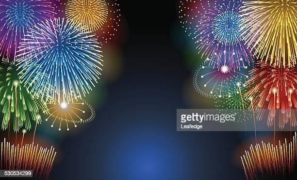 ホリデーの背景[花火] - 伝統的な祭り点のイラスト素材/クリップアート素材/マンガ素材/アイコン素材
