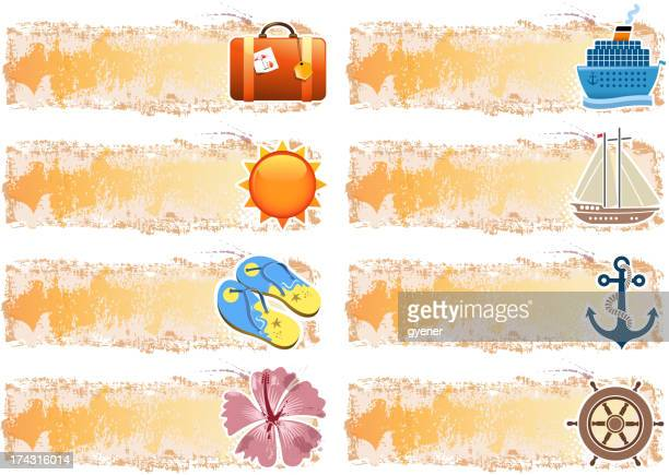 holiday banner - sandal stock illustrations, clip art, cartoons, & icons