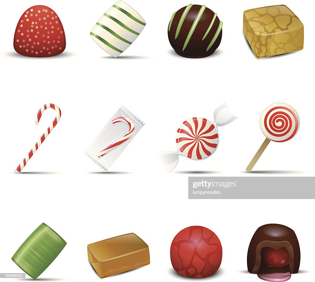 Holiday Candy Icons : stock illustration