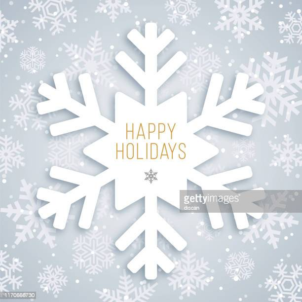 holiday card with snowflake. - snowflake shape stock illustrations