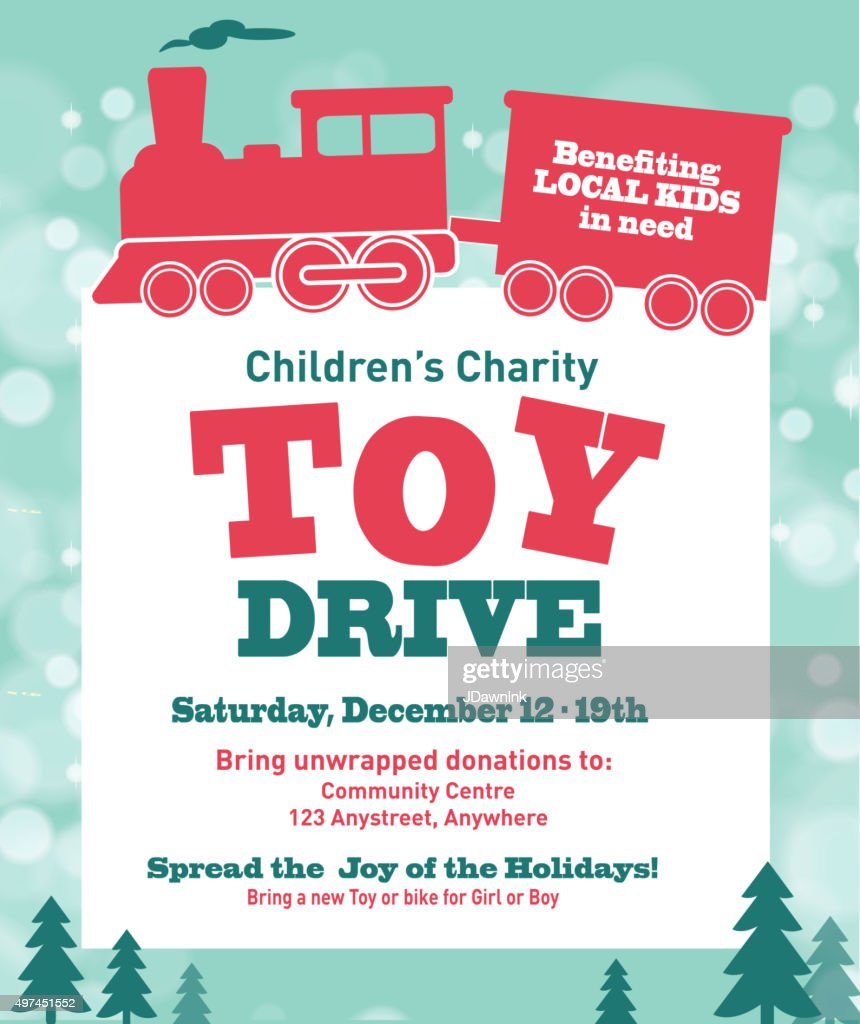 Toys For Tots Logo No Background : Holiday charity toy drive fundraiser poster design retro