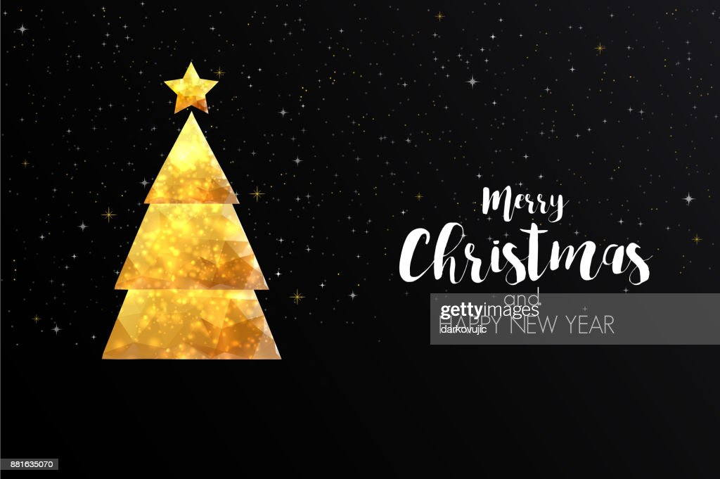 holiday christmas card made from triangles vector art getty images