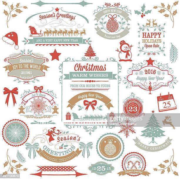 Holiday Christmas Label Tag Set