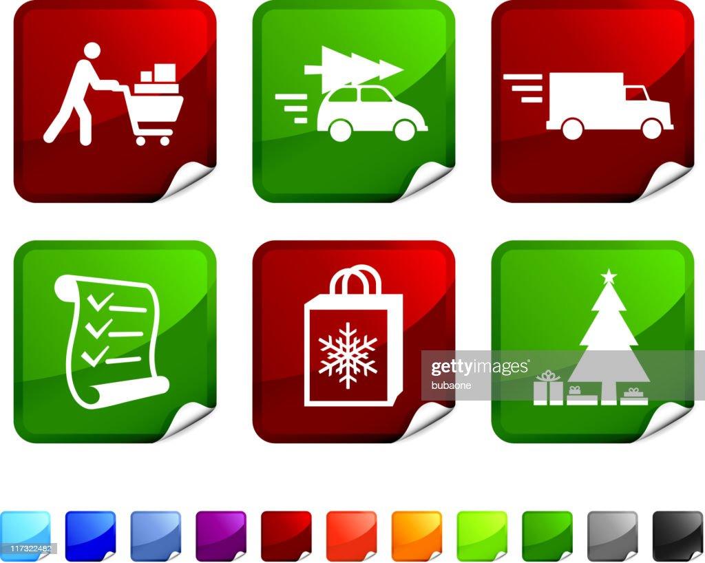 Holiday Christmas Shopping vector icon set