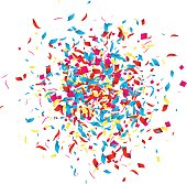 Holiday Confetti background for holidays, party, events, vector illustartion