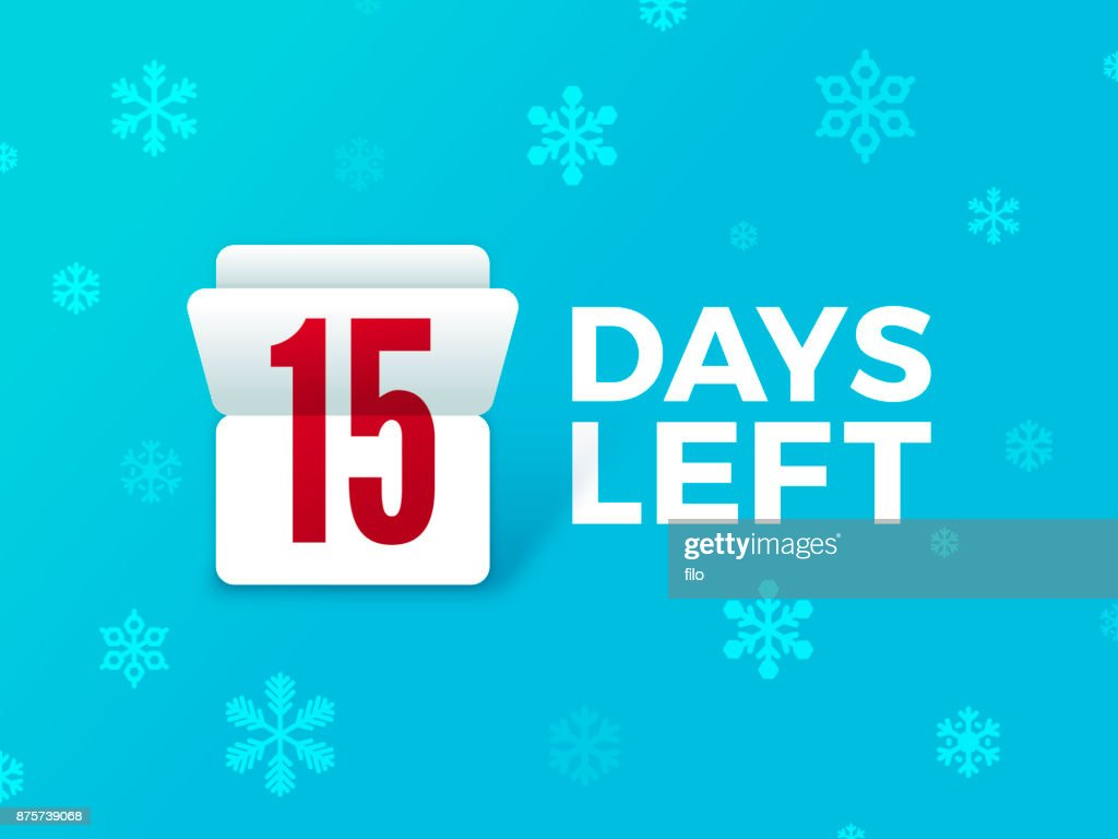 Holiday Countdown Flip Number : Stock Illustration