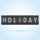 Holiday departure board