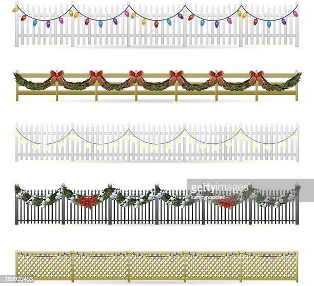 holiday fences - enclosure stock illustrations