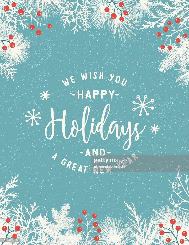 Weihnachten Frame Hintergrund mit Evergreen Filialen : Stock-Illustration