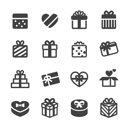 Holiday Gift Boxes Icons - Acme Series - gettyimageskorea