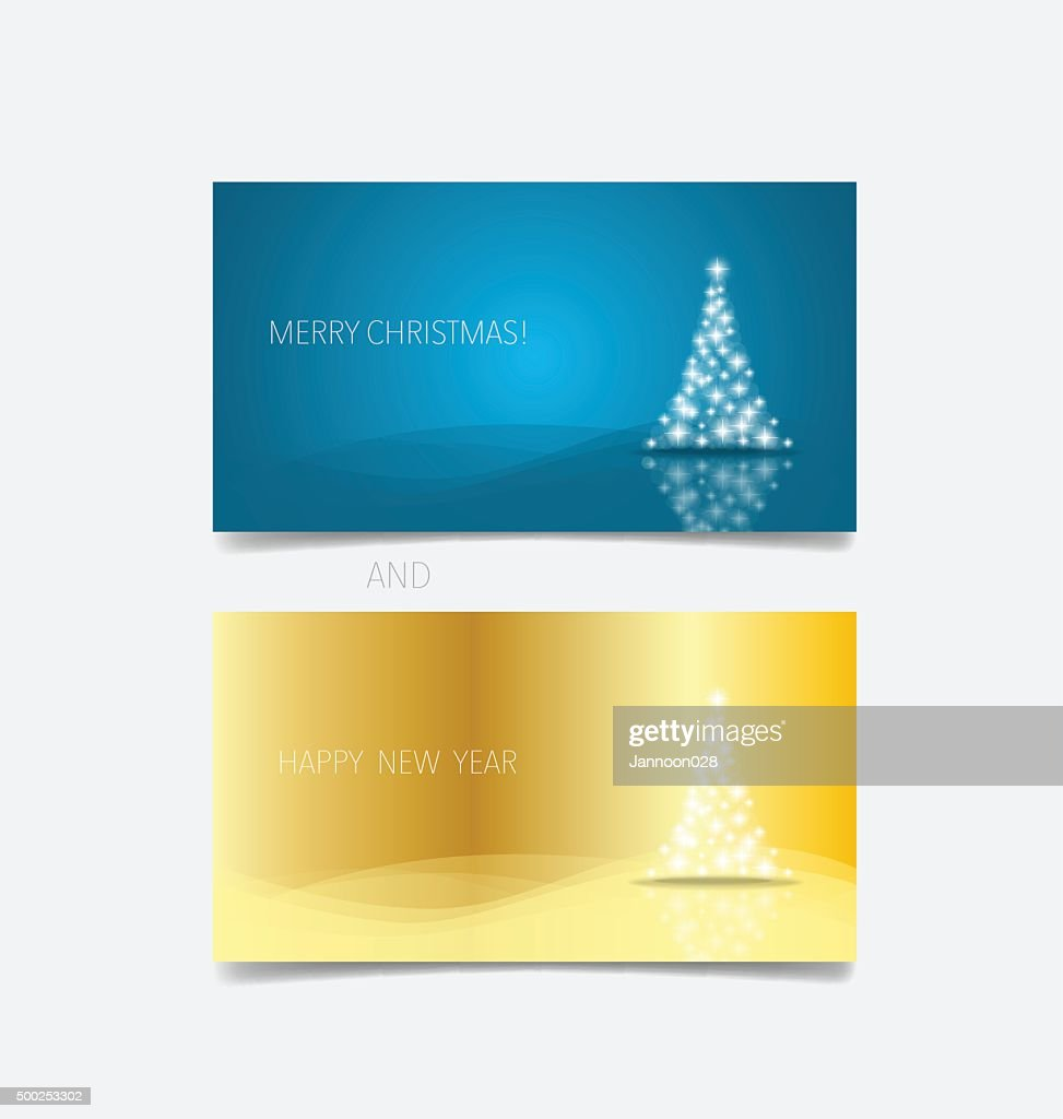 Holiday Gift Coupons With Christmas Tree Vector Illustration Stock