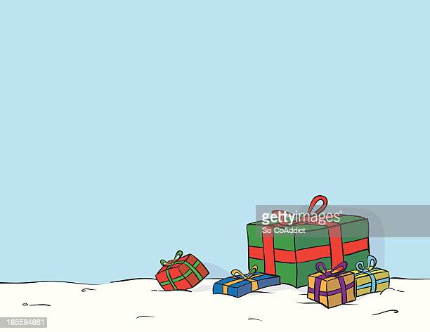 holiday gift drawing - closed stock illustrations, clip art, cartoons, & icons