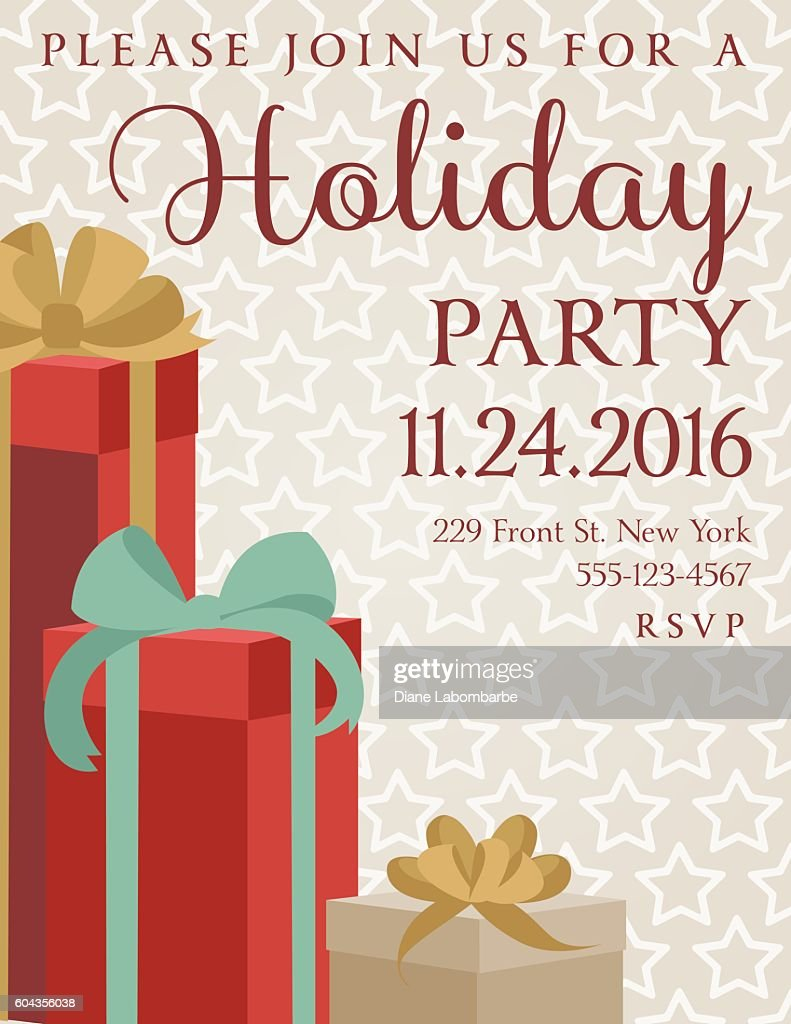 holiday gifts background dinner invitation template ベクトルアート