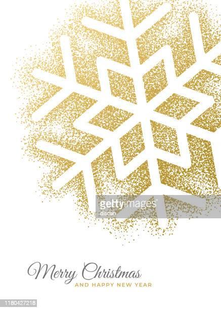 urlaub grußkarte mit schneeflocke. - geschäftliche aktivitäten stock-grafiken, -clipart, -cartoons und -symbole