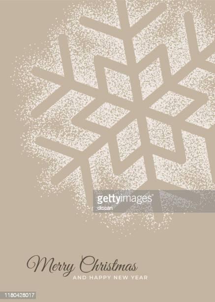 illustrazioni stock, clip art, cartoni animati e icone di tendenza di biglietto d'auguri per le vacanze con fiocco di neve. - decorazione festiva