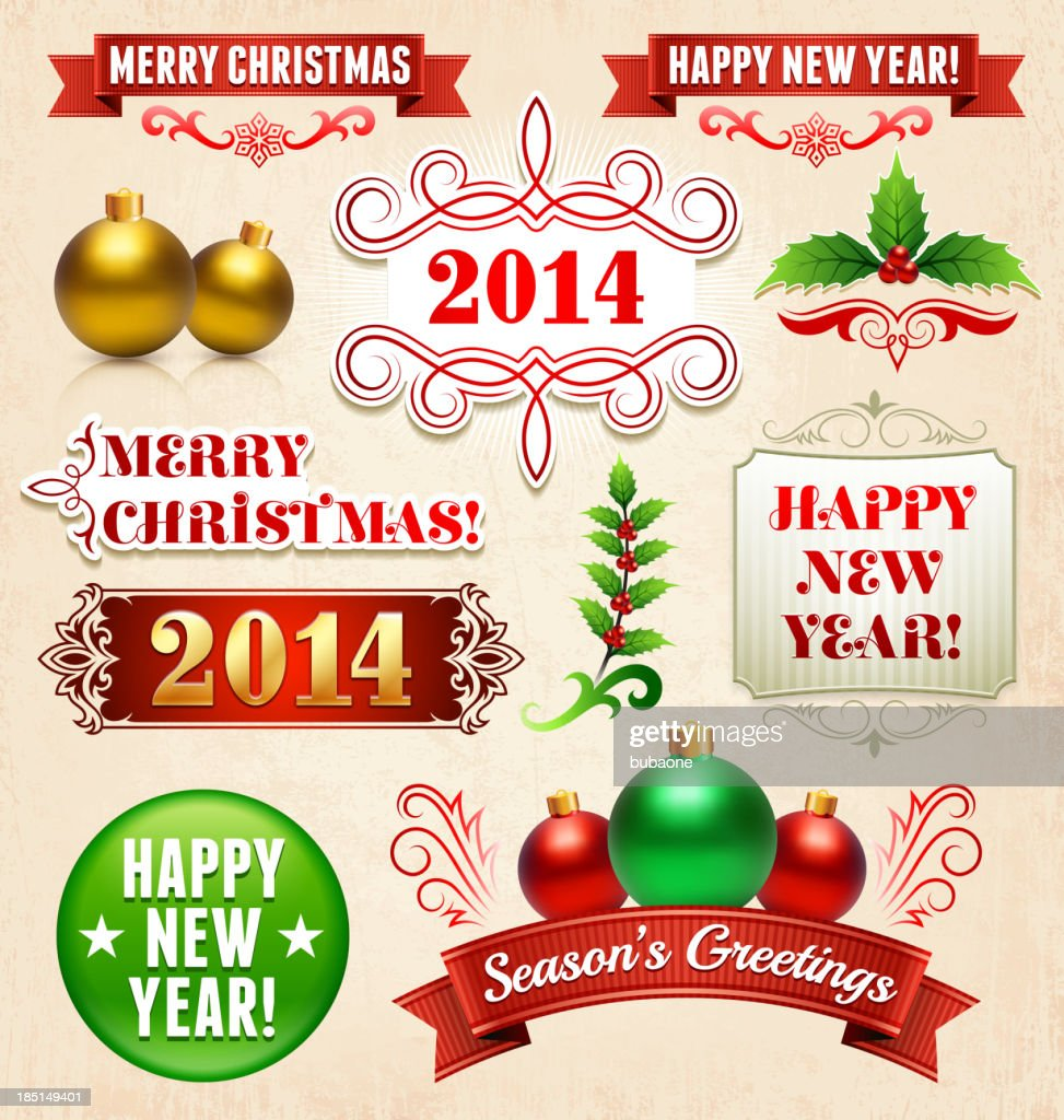 Holiday Greeting Cards Banner Set On Royalty Free Vector Background