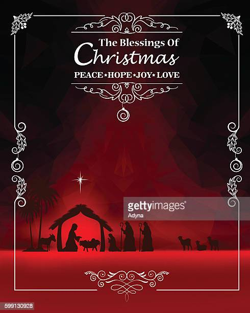 holiday greeting - jesus stock illustrations, clip art, cartoons, & icons
