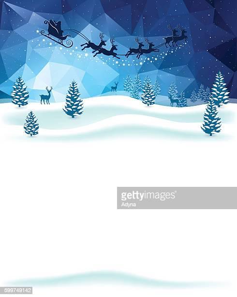 ホリデーシーズンのご挨拶 - サンタ ソリ点のイラスト素材/クリップアート素材/マンガ素材/アイコン素材