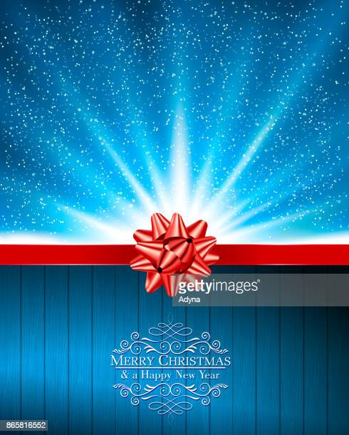 holiday greeting - red and blue background stock illustrations