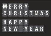 Holiday Greetings on Airport Flipboard Vector Illustration