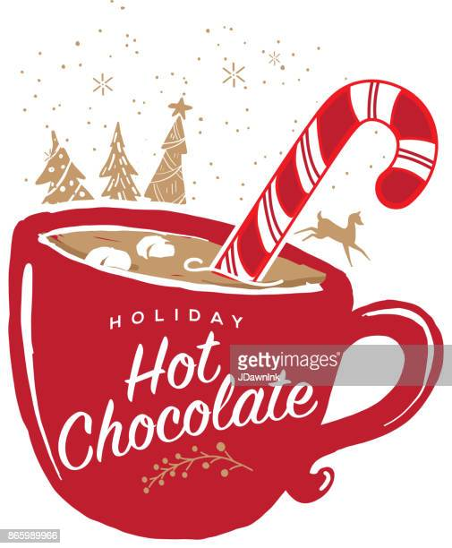 Holiday Hot Chocolate with mug greeting design