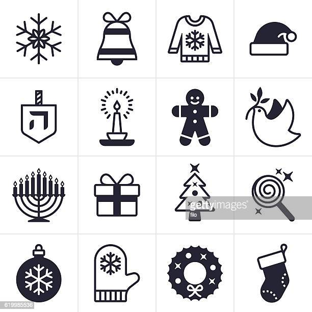 holiday icons and symbols - sweater stock illustrations, clip art, cartoons, & icons