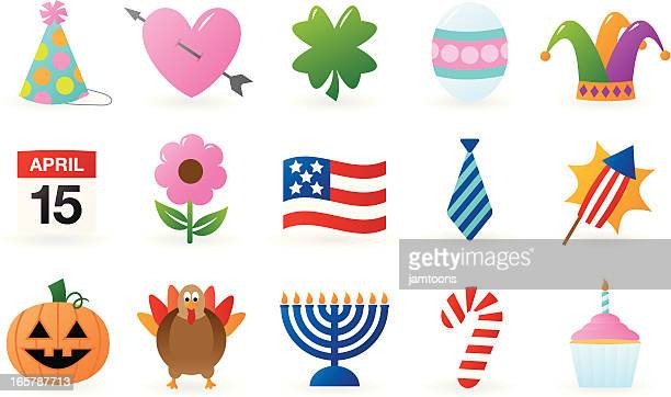 holiday icons - jester's hat stock illustrations, clip art, cartoons, & icons