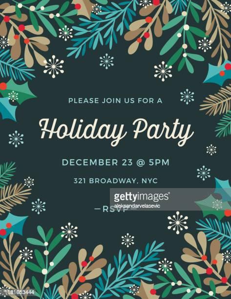 holiday invitation - holiday event stock illustrations