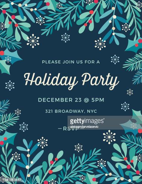 holiday invitation - what color are the berries of the mistletoe plant stock illustrations