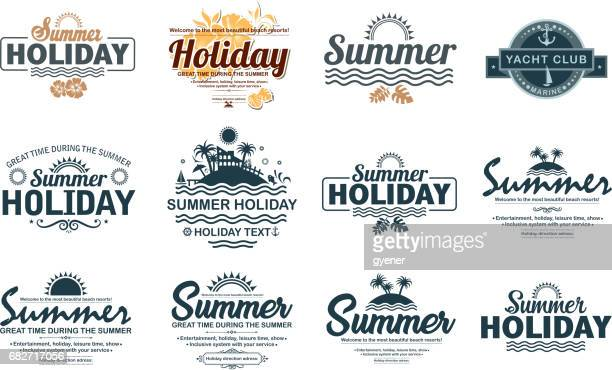 holiday label - travel tag stock illustrations, clip art, cartoons, & icons