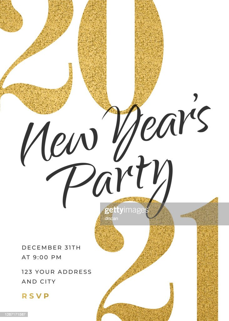 2021 Holiday New Years Party Invitation Design Template High Res Vector Graphic Getty Images
