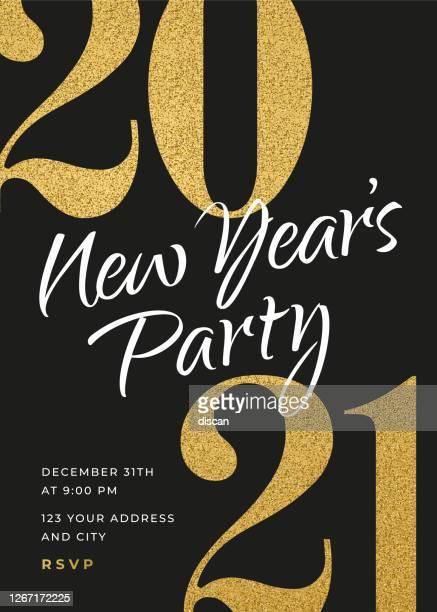 2021 - 休日の新年パーティー招待状のデザインテンプレート。 - 2021年点のイラスト素材/クリップアート素材/マンガ素材/アイコン素材
