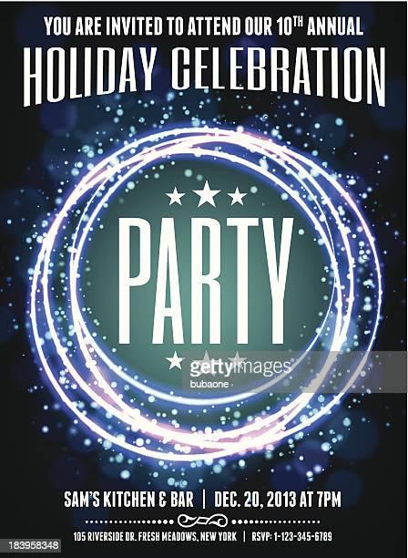 Holiday Party Celebration Invitation Card
