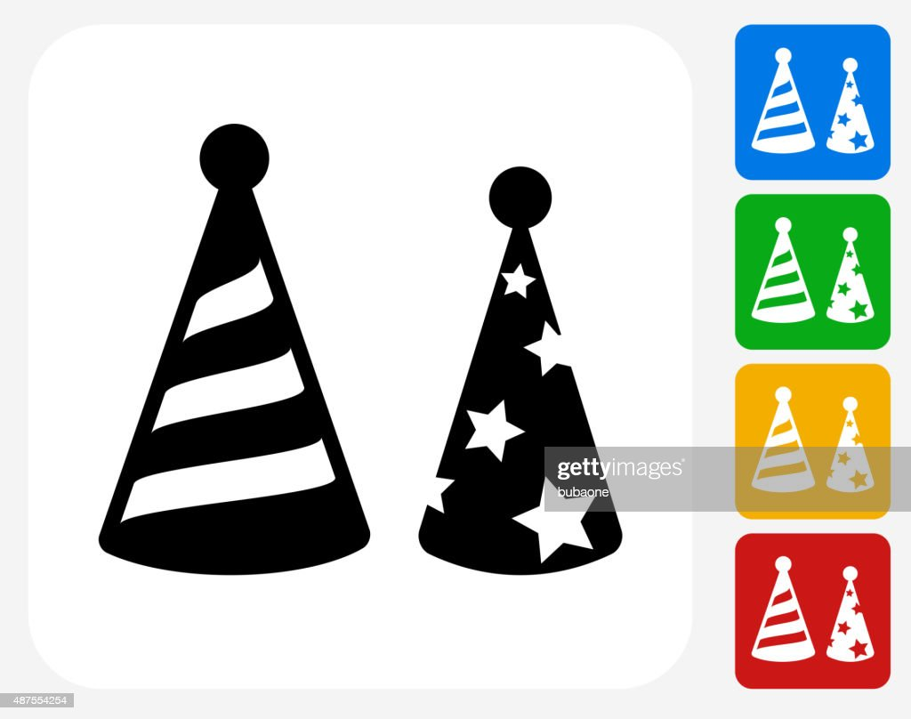 Holiday Party Hats Icon Flat Graphic Design Vector Art Getty Images