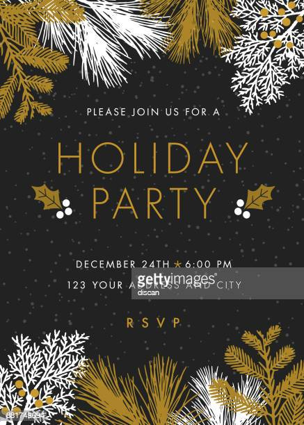 holiday party invitation. - illustration - grace stock illustrations
