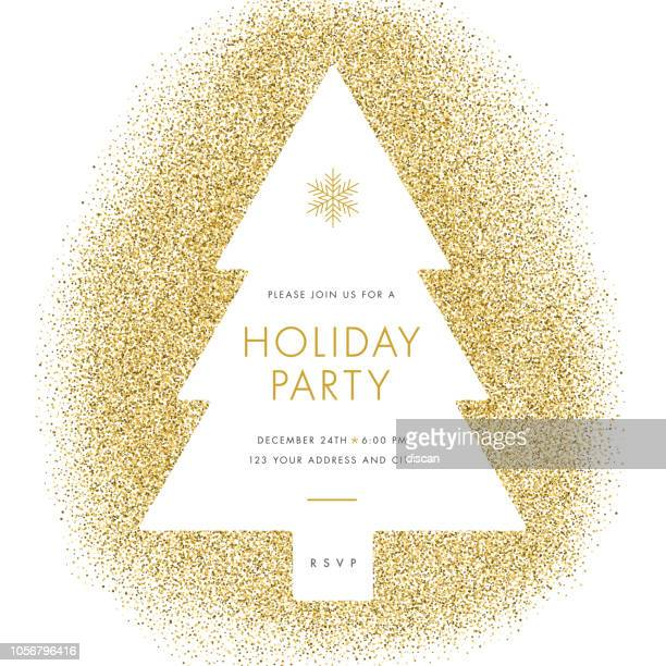holiday party einladung. - einladungskarte stock-grafiken, -clipart, -cartoons und -symbole